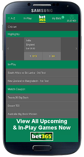 bet365 mobile cricket