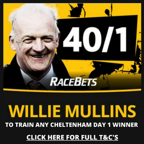 40/1 willie mullins to win day 1 of cheltenham