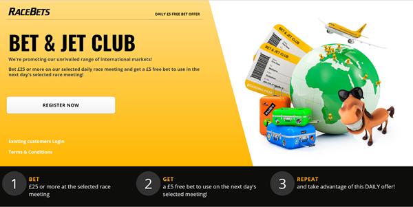 Racebets bet and jet club