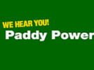 paddy power logo with we hear you also on it