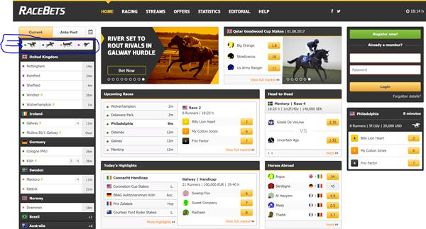 racebets interactive sidebar menu 600px