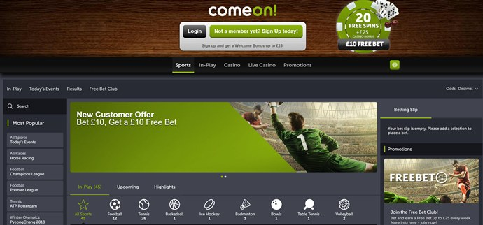 comeon review 2018