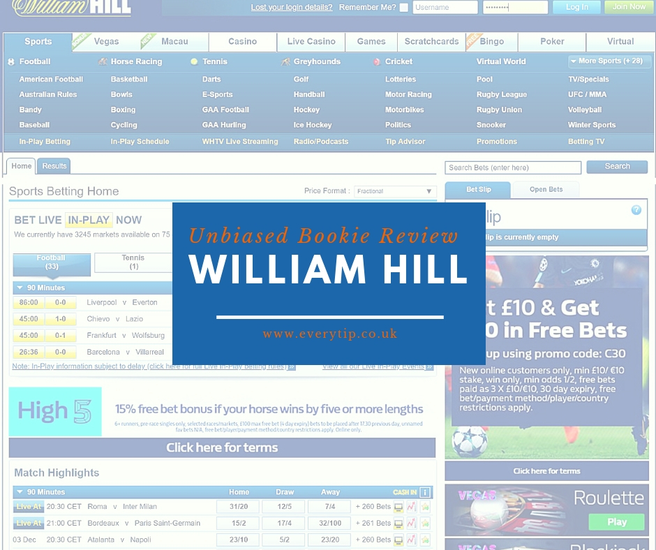 William hill online sports betting review inter vs sassuolo betting experts