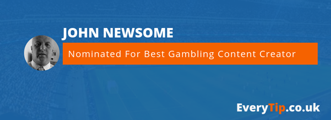Nominated for best gambling content creator 2019 john