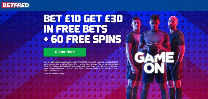 betfred bet 10, get 30 free bets and 60 free spins